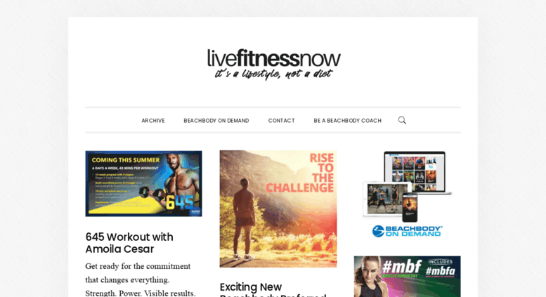 Access livefitnessnow com  Live Fitness Now – Beachbody home