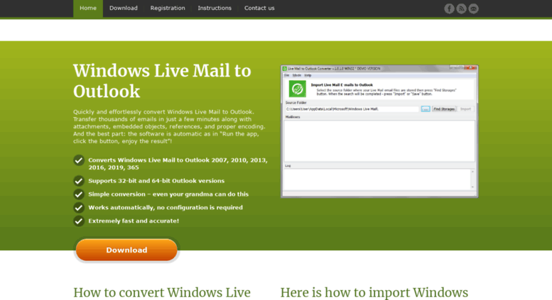Access livemailtooutlook com  Hassle free Live Mail to