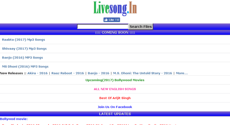 Access livesong in  LiveSong In   Mp3 Songs Bollywood