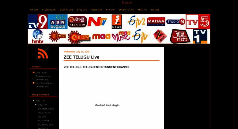 Access livetv95 blogspot com  Online Live Tv : Live Telugu News
