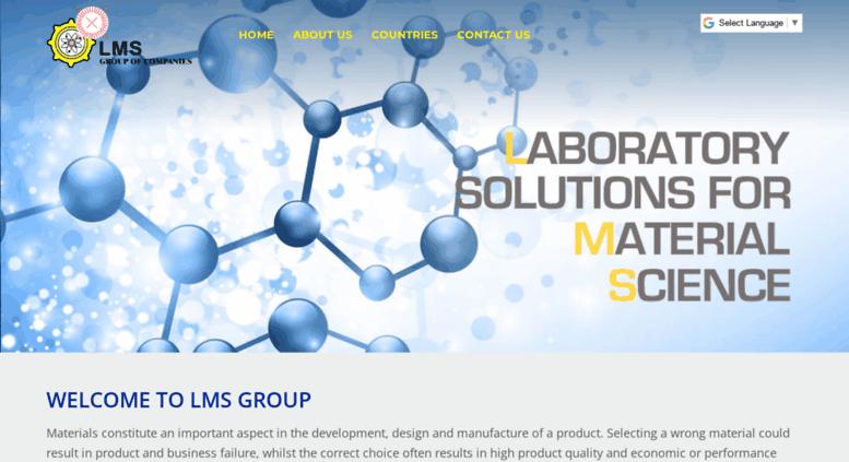 Access lmsscientific com  LMS Group   Laboratory Test