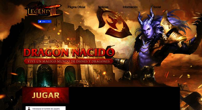 Access Loes Oasgames Com Legend Online Sitio Oficial Juegos Rpg