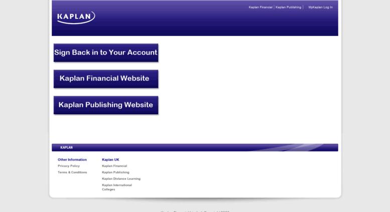 Access login.kaplan.co.uk. Login