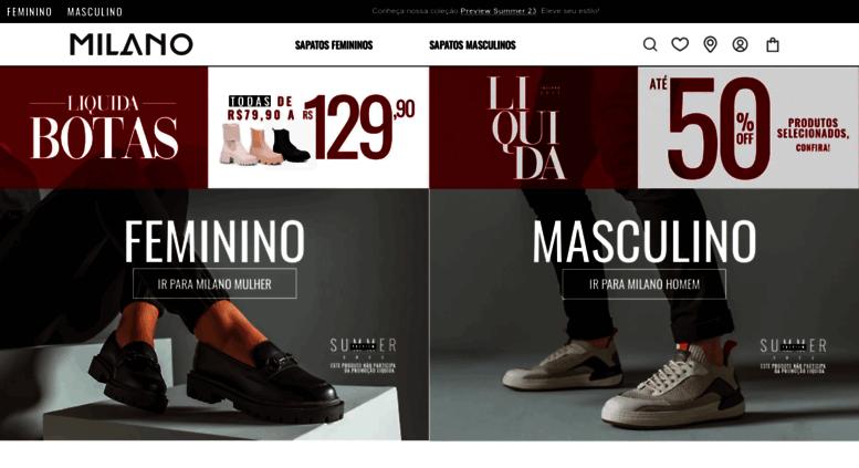 a51986fcd Access lojasmilano.com.br. Sapatos Femininos e Masculinos Online ...