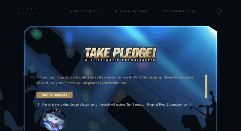 Access lolpredict garena ph  Take Pledge