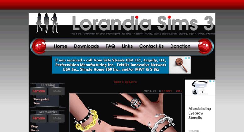 Access lorandiasims3 com  Lorandia Sims 3 - Clothing Accessories