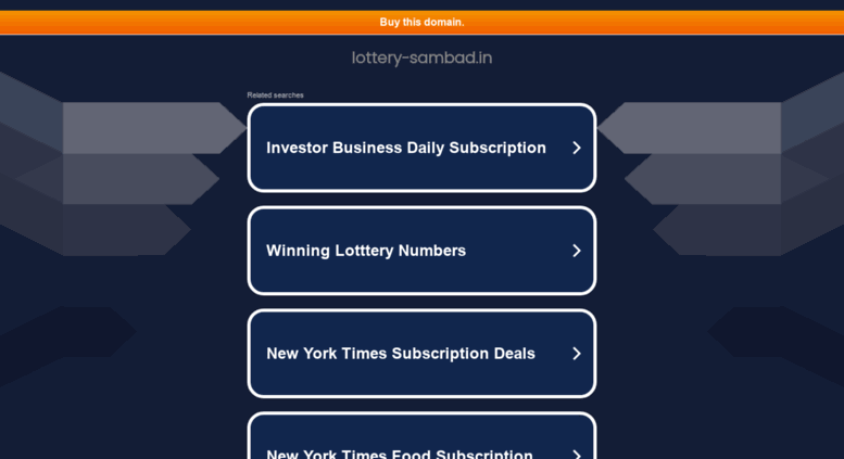 Access lottery-sambad in  Lottery Sambad Result - Today 11