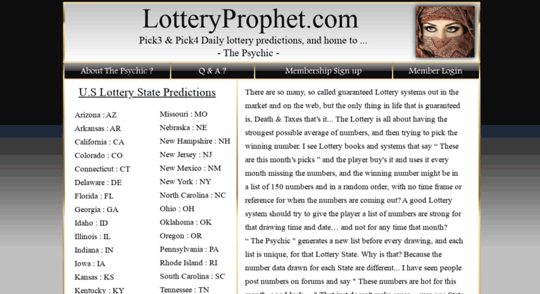 Access lotteryprophet com  Lotteryprophet - Pick3 & Pick4 Daily