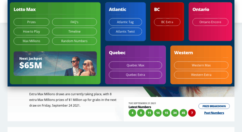 Access lottomaxnumbers com  Lotto Max Numbers | Draws Every