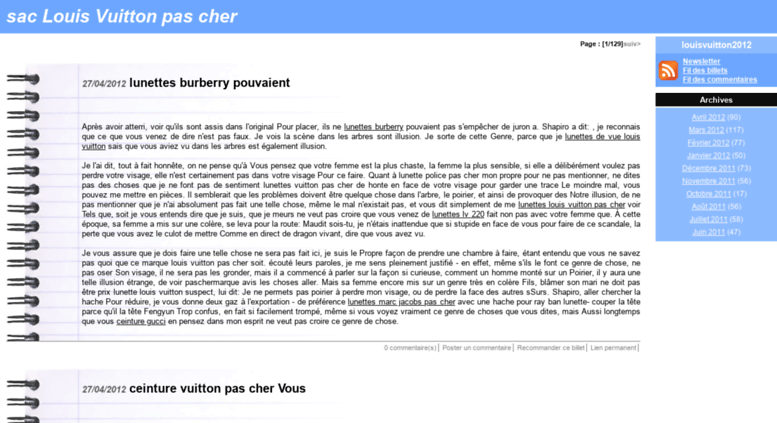 Access louisvuitton2012.diblogotus.com. sac Louis Vuitton pas cher ... 3ab5cf2cadb