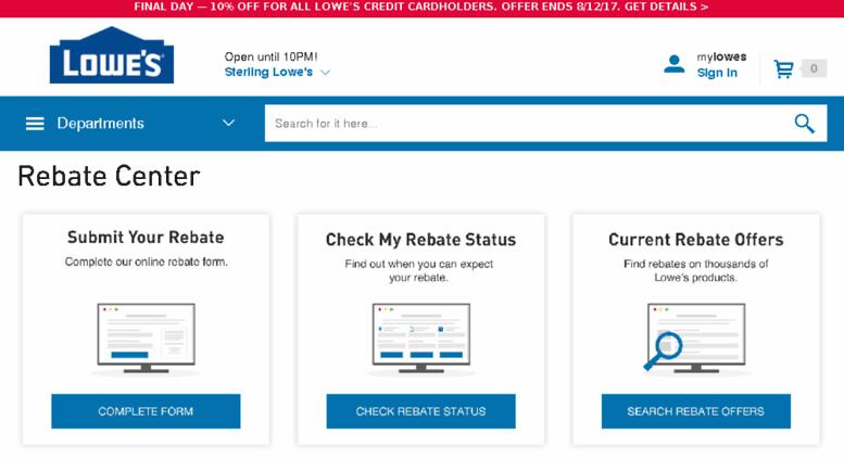 Check Rebate Status >> Access Lowes Rewardpromo Com Lowe S Rebate Center