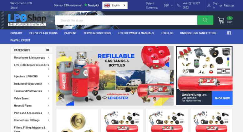 Access lpgshop co uk  LPG Shop - Autogas Conversion Parts