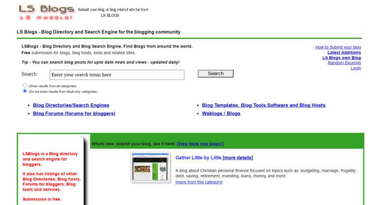 adult blog engine search