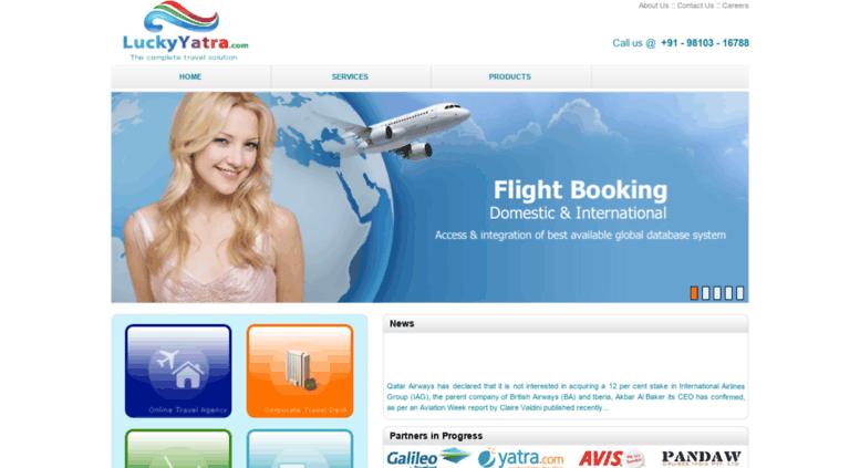 Access luckyyatra com  Internet Booking Engine System, Online Travel