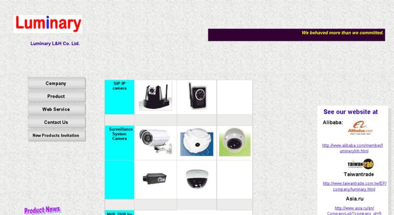 Access luminarylnh com  Luminary L&H Co  Ltd product