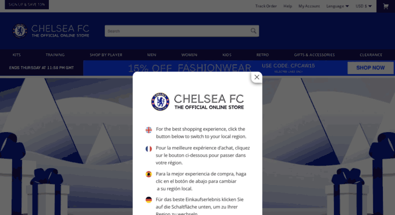 Access m chelseamegastore com  Official Chelsea Megastore | Home Kit