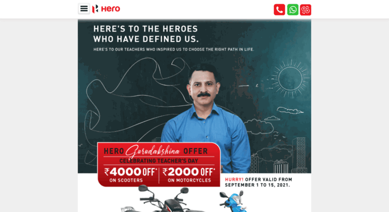 Access m heromotocorp com  Hero MotoCorp New Two Wheelers