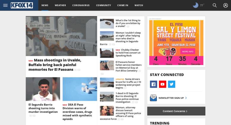 Access m kfoxtv com  El Paso News, Weather, Sports, Breaking