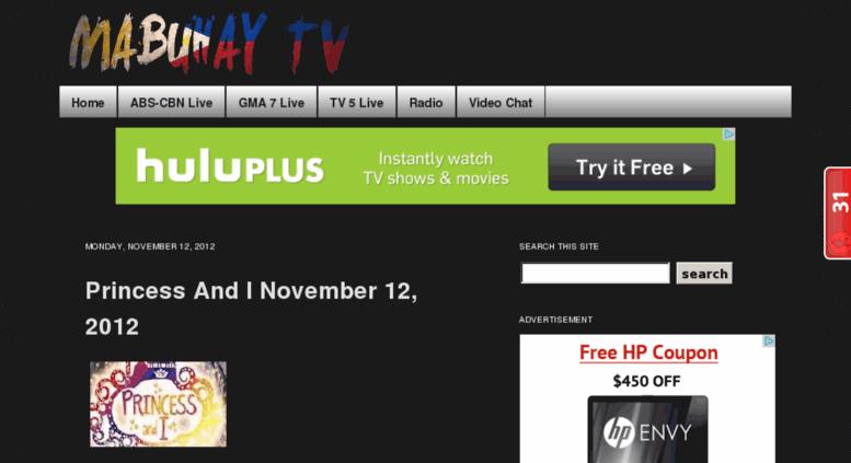 Access mabuhay-tv com  Mabuhay TV | The best Pinoy online TV