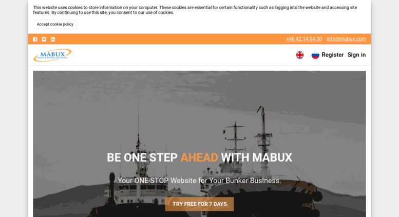 Access mabux com  MABUX - Latest Bunker Prices - Marine Fuel