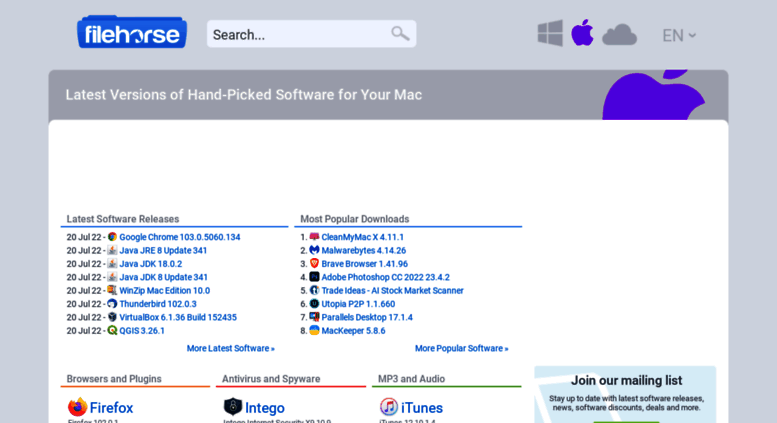Access mac filehorse com  FileHorse com / Free Software