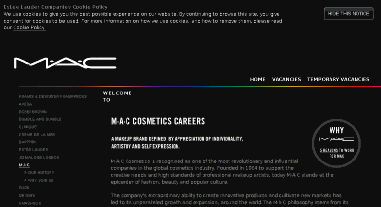 Mac Cosmetics Job Opportunities