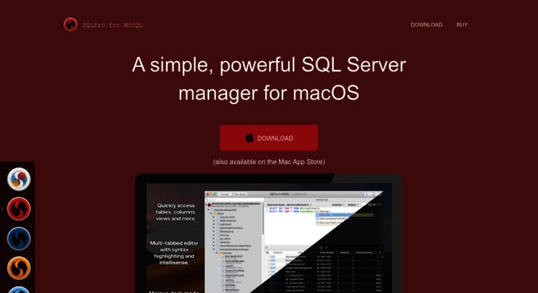 Access macsqlclient com  SQLPro for MSSQL - macOS SQL Server
