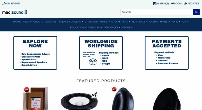 Access madisoundspeakerstore com  Madisound Speaker Components