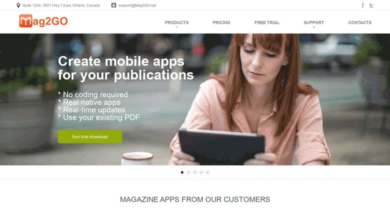 Access mag2go net  Digital Publishing Software - Create Magazine App