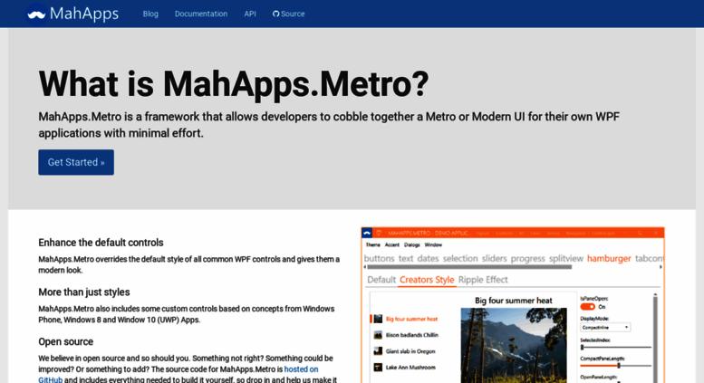 Access mahapps com  MahApps Metro Documentation
