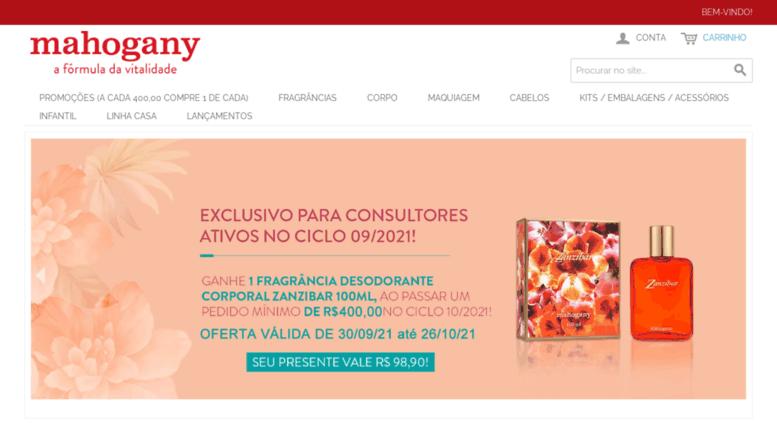 4ab411a04 Access mahogany-ba.com.br. Cosméticos Mahogany Mahogany em Casa - A ...