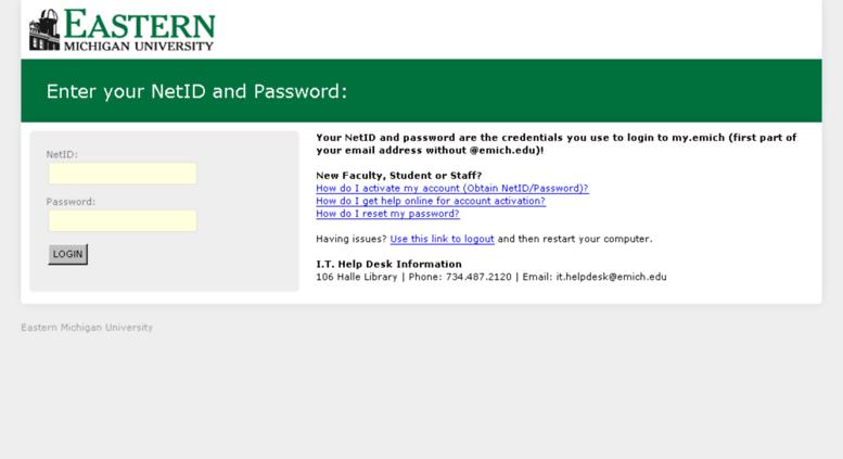 Access mail emich edu  Zimbra Web Client Log In