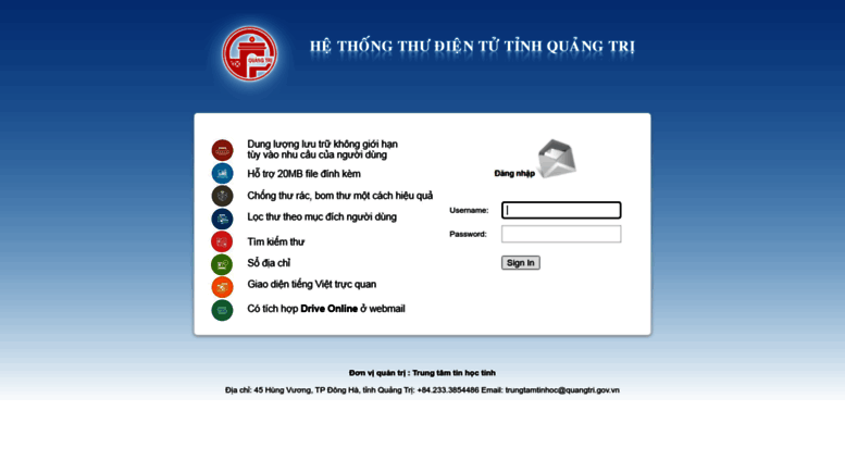 Access mail quangtri gov vn  WebMail Client Sign In