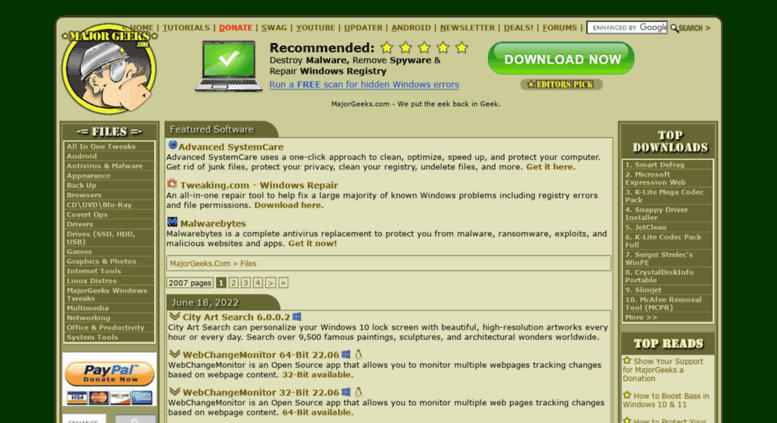 Access majorgeeks com  MajorGeeks Com - MajorGeeks