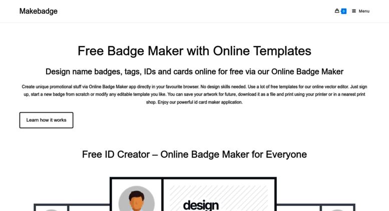 access makebadge com online badge maker name tags name badges free