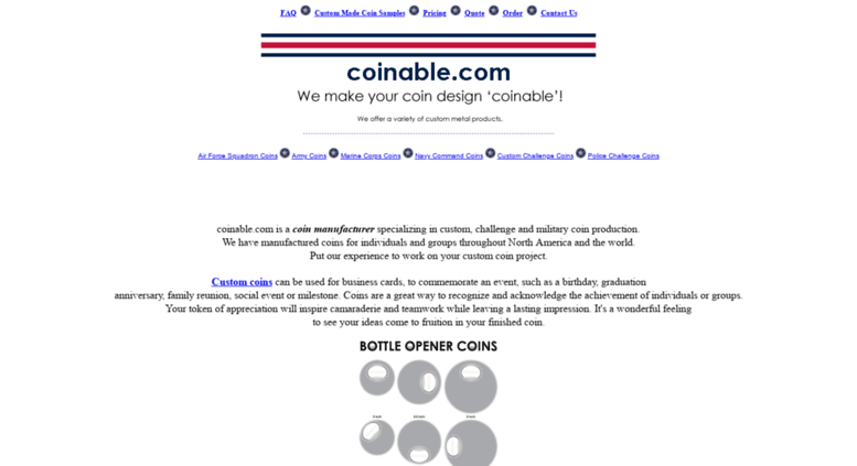 Access makers ws  Coin Makers, Custom Coin Makers, The Coin