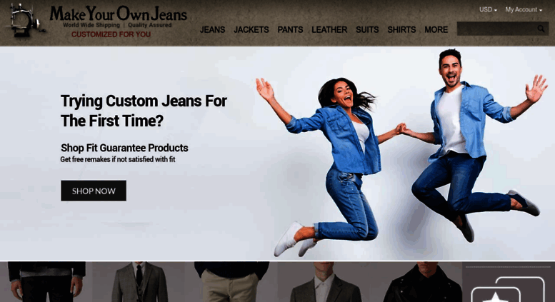 Access makeyourownjeans com  MakeYourOwnJeans®: Made To