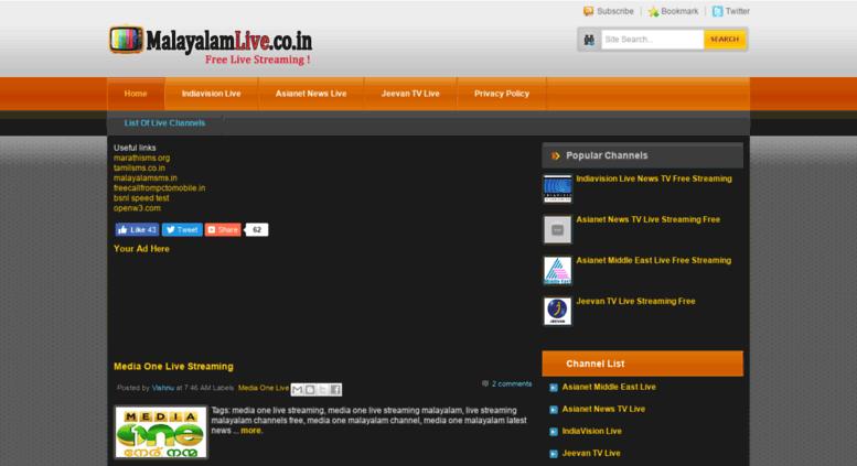 Access malayalamlive co in  Malayalam Live TV News Channel Free Live