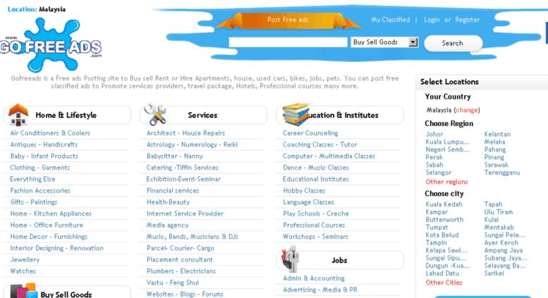 Access malaysia gofreeads com  Home Post Free classified ads   Free