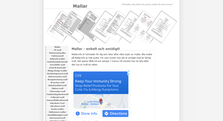 mallarinfo screenshot