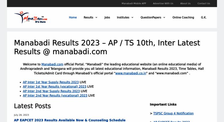 Access manabadi com  Manabadi © - Results, Time Tables, Hall