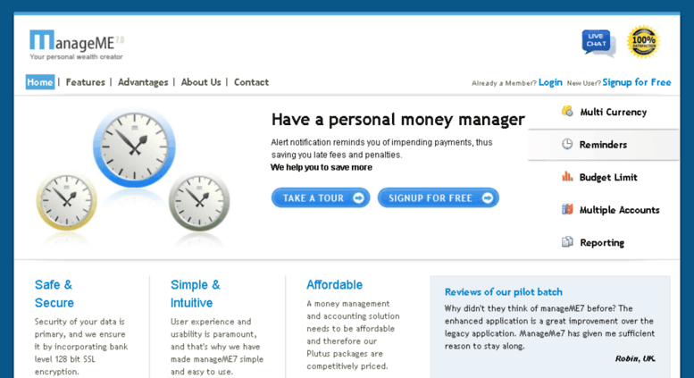 Access manageme in  Online Money Management Software/Free