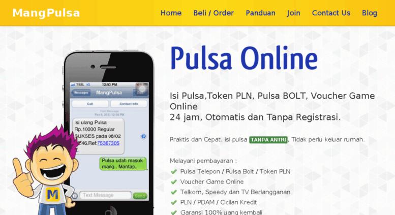 Access Mangpulsa Com Jual Pulsa Token Listrik Pln Bolt 4g Online