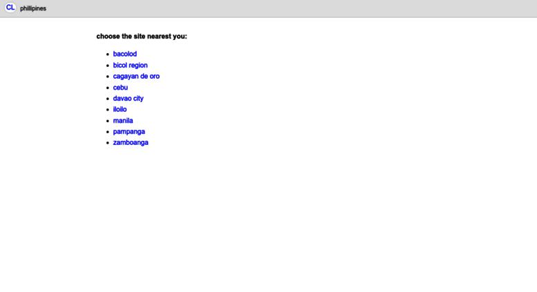 Access manila.en.craigslist.com.ph. craigslist: manila