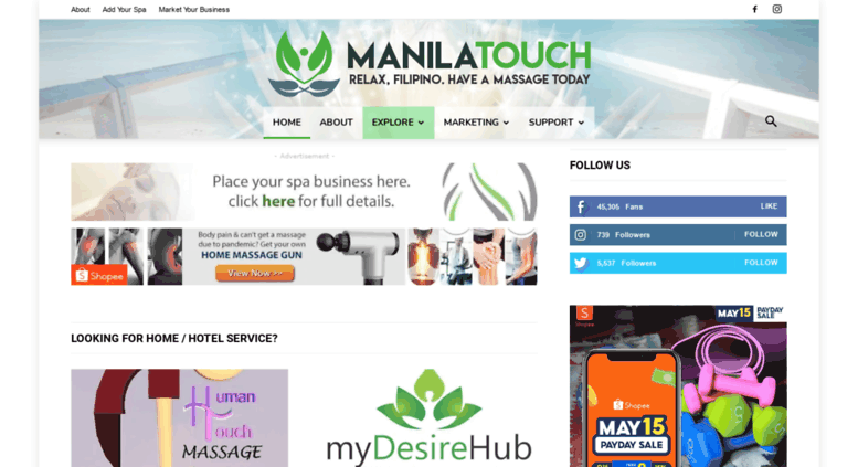 Access manilatouch com  Massage Spa Philippines by Manila Touch