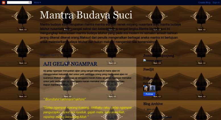 Access mantrakejawen1 blogspot co id  Mantra Budaya Suci