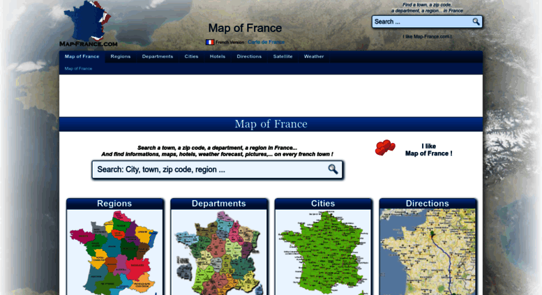 Map Of France Regions And Cities.Access Map France Com Map Of France Departments Regions Cities