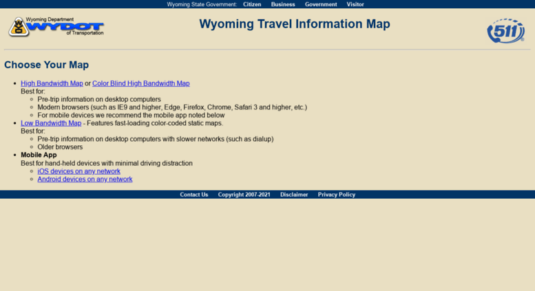Access map.wyoroad.info. Wyoming Travel Information Map - Choose ...