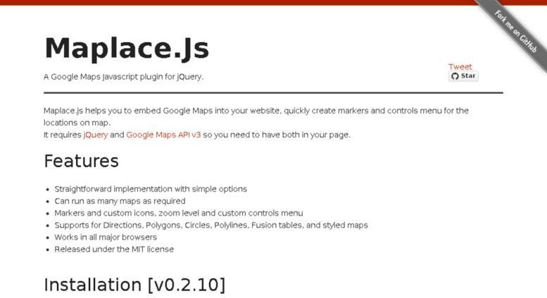Access maplacejs com  Maplace js - A Google Maps javascript plugin