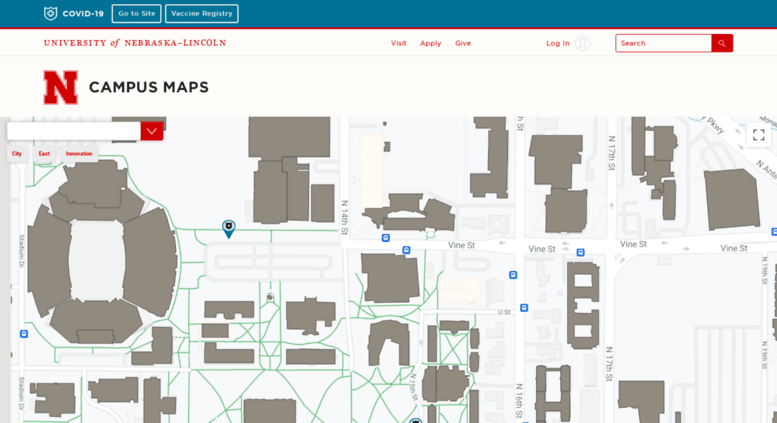 Access Maps Unl Edu Campus Maps University Of Nebraska Lincoln
